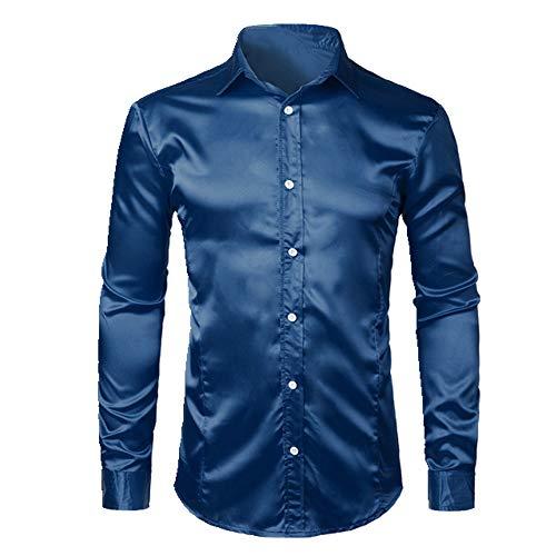 N\P Camisas de manga larga para hombre marine XL