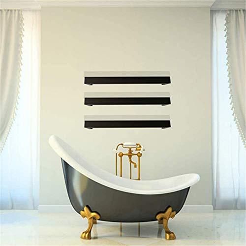 KAUTO Toallero eléctrico, 45 & deg; C Toallero calefactado para ensamblar libremente, Toallero de Acero Inoxidable en Mate/Pulido para Mejorar la Ducha del baño en el Lavabo, Negro, AA