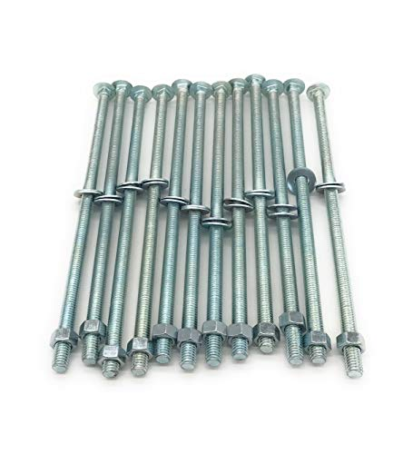 "3/8"" x 10"" Carriage Bolts with Nuts & Washers, 12 per Pack"