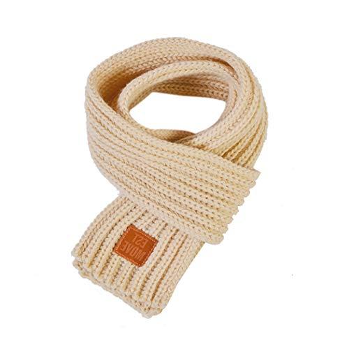 Ranvi Bufanda infantil, cálida en otoño e invierno, pelusa tejida a mano,...