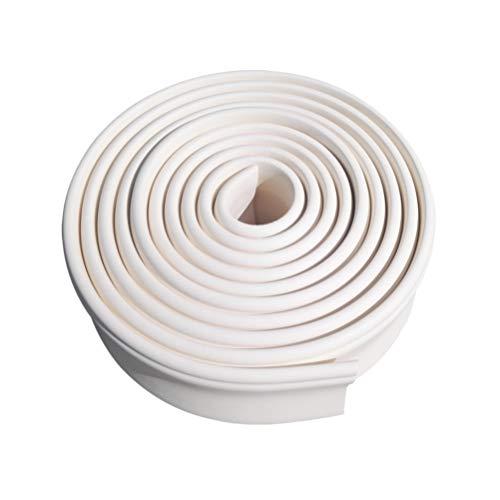 VOSAREA Decoración del Hogar Modelado Molduras de Corona Molduras Flexibles Molduras Techo Línea de Borde Decoración de Interiores Protector de Borde de Pared (Blanco Longitud 5 Metros Ancho 10 Cm)