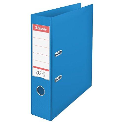 Esselte 624067 Plastik-Ordner (zur Archivierung, Vivida Plastik, A4, 7,5 cm Rückenbreite, No.1) blau