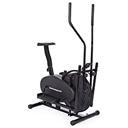 Ultrasport Basic X-Trainer 250 crosstrainer / elliptical trainer trains legs buttocks hip arms shoulders and muscles, fitness bike with multifunction computer including calorie consumption display