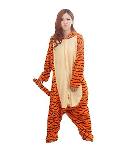 Unisex nightwear and pyjamas, Unisex-Einteiler/Pyjama für Erwachsene, Tigger-Design, aus warmem Flanellstoff Größe L blau