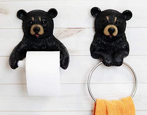 Top 10 best selling list for black bear toilet paper holder lodge cabin northwoods