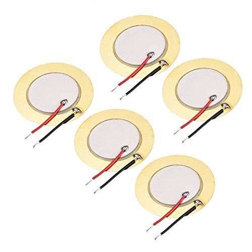 YeVhear - Discos piezoeléctricos, 35 mm, sensor acústico, transductor, micrófono, activador de zumbador, batería de guitarra, 5 unidades