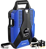 akface DC 12V Portable Air Compressor Pump for Car, Bicycle, Motorcycle, Balls, Inflatable Pool and Other Inflatables, Digital Display up to 150PSI, Auto Shut Off Accurate Pressure Control, Blue