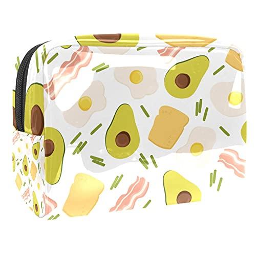 Bolsa de Aseo Hombres y Mujeres Huevos de Aguacate Carne de Res para Niñas Organizador de Bolso Cosmético Accesorios de Viaje Bolsa de Viaje Bolsa de Lavado 18.5x7.5x13cm