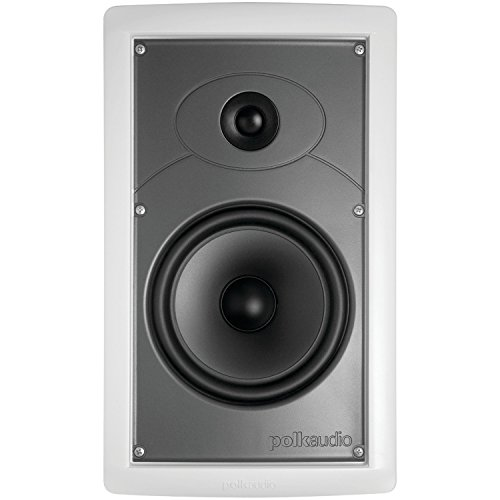 Polk Audio IW65 in-Wall Speaker, Moisture Resistant Design for Damp and Humid Indoor/Outdoor Placement - Bath, Kitchen, Covered Porches (White, Paintable Grille)