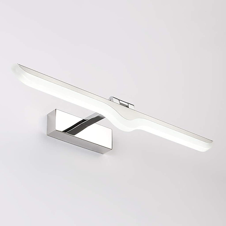 Spiegelleuchten LED Spiegel Scheinwerfer Badezimmer Wandleuchte Schminktisch Spiegel Schranklampe Wasserdichte Anti-Fog-Spiegel Lampe Lnge  42 52 62 72 cm. ( Farbe   Weies Licht , gre   42cm-9W )