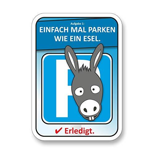 easydruck24de Parken wie EIN Esel Auto-Scheiben-Aufkleber I kfz_503 I 100