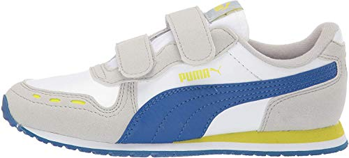 PUMA Kids' Cabana Racer Hook and Loop Sneaker, White-Galaxy...