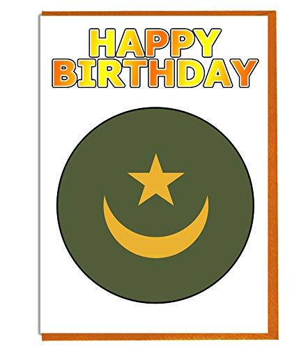 Geburtstagskarte Mauretanien Flagge – Fre& – Familie – Kollege – Mate – Boss – Loved One
