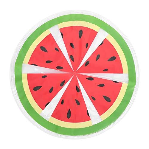 Ufolet Almohadilla de Hielo para Perros, 14.2 Pulgadas de PVC, sandía/Granada, Alfombrilla de enfriamiento Redonda para Perros, para Viajes de Verano(Watermelon)