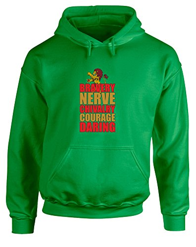 Brand88 Brave Lion, Printed Hoodie - Irish Green/Transfer 2XL