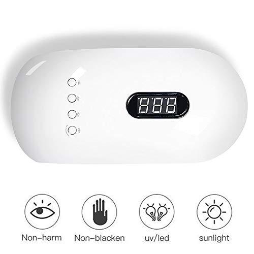 Lámpara Led Uñas, Secador De Uñas UV/LED 36W Con 4 Tipos Temporizadores Y 24 Potentes Luces Led, Perfecta Lámpara De Uñas Para Esmaltado Permanente O Uñas De Gel