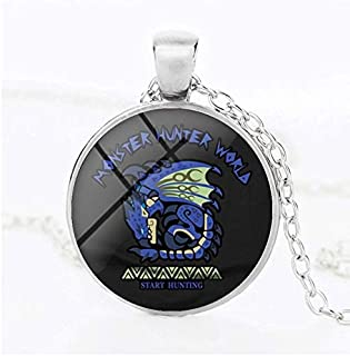 VKISI 24Pcs Monster Hunter World Cartoon Characters Time Gem Necklace Pendant Custom Game Anime Around Teen Must Haves 6 Year Old Boy Gifts The Favourite DVD 4T Superhero Toy Unboxing