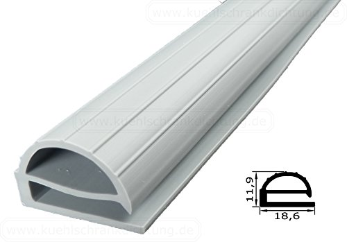 Profildichtung - Profil 102 - 2000mm - Farbe: Grau (Kühlschrankdichtung)