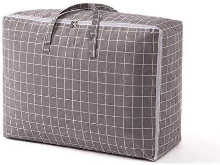 BBGSFDC Bolsa de almacenamiento de ropa no tejida con asa, transparente, plegable, a prueba de humedad, bolsa de almacenamiento gruesa, C, 70 x 50 x 30 (color: A, tamaño: 60 x 40 x 25)
