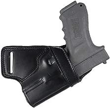 YT Hobby Premium Handmade Leather Small of Back SOB Gun Holster (Black - Right Hand, for Glock 17/22/31/37)
