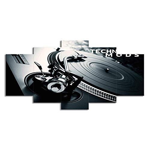 S.perfect 5 Stuks van DJ Muziek CD Speler Mural Schilderen Muur Kunst Schilderen voor Woonkamer Slaapkamer Home Decoratie