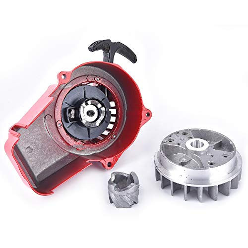 Legierung Pull Start ziehen Rückstoßstarter mit Schwungrad + Kern Ersatz für 47ccm 49ccm Pocket Dirt Bike Mini ATV