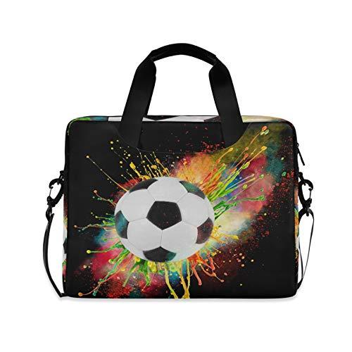 JNlover Sport-Laptoptasche mit Fußball-Motiv, 40,6 cm (16 Zoll), tragbare Hülle, Aktentasche, Laptoptasche, Notebook-Computer, Tragetasche für Damen und Herren