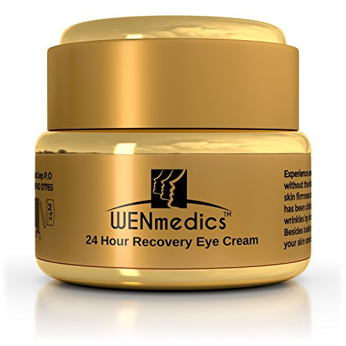 Eye Cream For Wrinkles Dark Circles & Puffiness - Clinically Proven Anti Aging Wrinkle Undereye Treatment for Dark Circles Crow's Feet Puffiness & Eye Bags - WENmedics 24 Hour Recovery Eye Cream