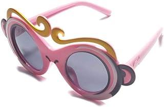 QPRER - Gafas De Sol,Rosa Encantador Dibujos Animados Corona Espejo Clásico Niña IR De Compras Gafas De Sol Verano Niños Diario Al Aire Libre Gafas Niño Seaside Party Decoraciones Cumpleaños Día De