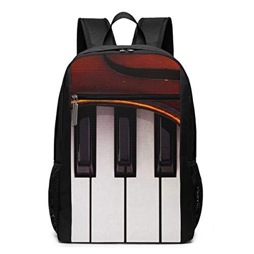 Mochila Escolares Instrumentos de Piano violín, Mochila Tip
