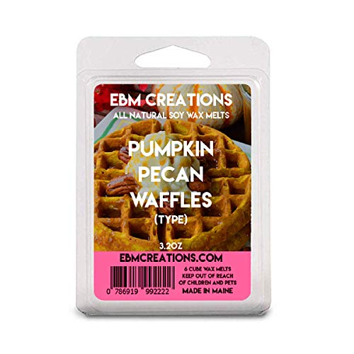 Pumpkin Pecan Waffles (Type) - Scented All Natural Soy Wax Melts - 6 Cube Clamshell 3.2oz Highly Scented!