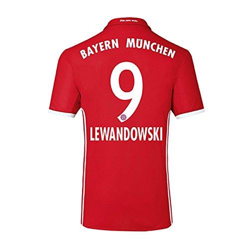 UKSoccershop 2016-17 Bayern Home Shirt (Lewandowski 9) Size Adult M