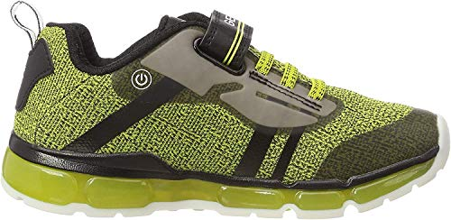 Geox J Android Boy A, Zapatillas para Niños, Amarillo (Lime/Black C3707), 29 EU