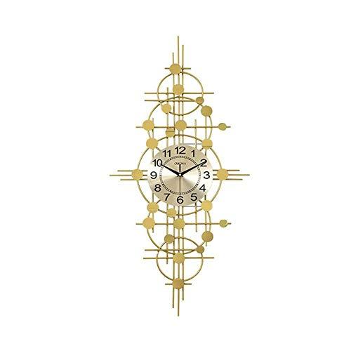 cakunmik Relojes de Pared creativos Modernos, Reloj de Metal silencioso, para Dormitorio Sala de Estar Restaurante 3D Decorativo,B