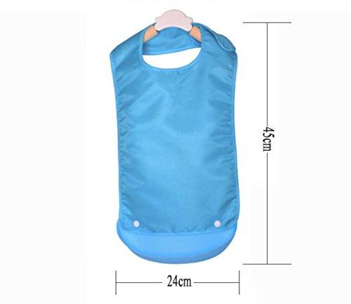 Weekendy Babero de Silicona Impermeable para Adultos, Color Azul, Babero para Hombre y Mujer