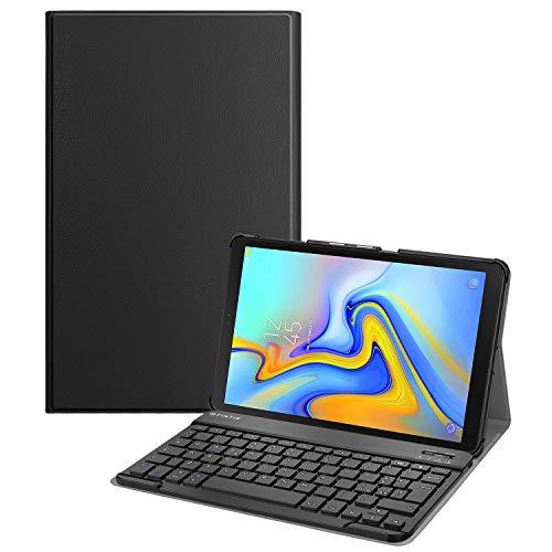 FINTIE Tastiera Custodia per Samsung Galaxy Tab A 10.5 2018 SM-T590/T595 [Layout Italiano] - Slim Cover con Rimovibile Magnetica Wireless Bluetooth Tastiera, Nero (n° IT19090000011669)