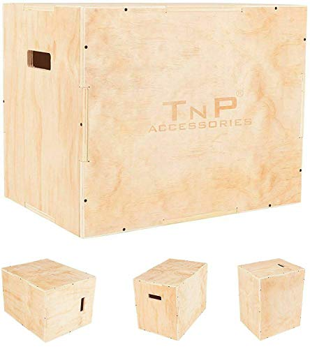 TnP Distribution Wooden Plyometric Plyo Jump Box Jumping Boxes Step Squat Crossfit Deck Stepper MMA 45cm x 40cm x 35cm