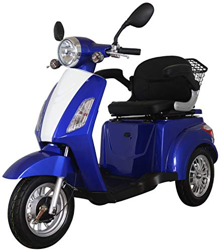 Blue ZT500 Electric Mobility Scooter 3 Wheeled with Extra Accessories...