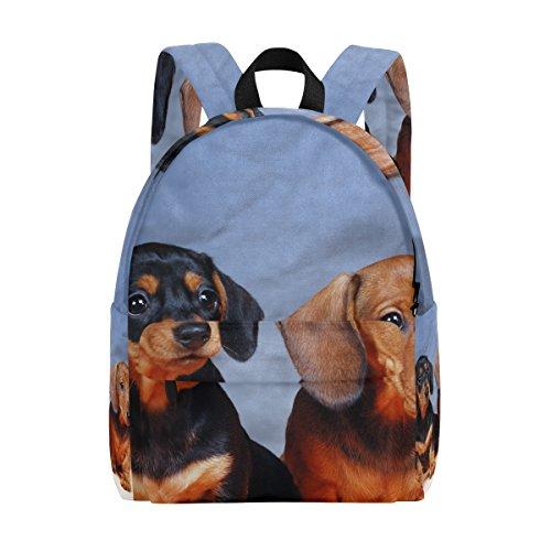 COOSUN Rucksack mit Dackel-Motiv, leicht, für Schule, Klassisch, Reiserucksack für Mädchen, Frauen, Kinder, Jugendliche