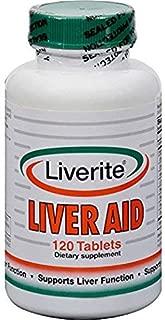 Liverite Liver Aid 120 Tablets, Liver Support, Liver Cleanse, Liver Care, Liver Function, Energy.
