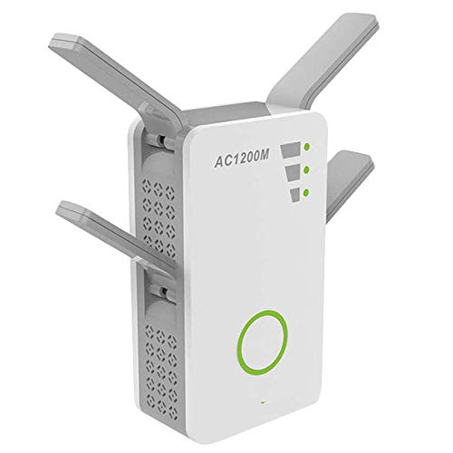 ZYJ WiFi Extender Booster, Drahtlose Dualband-AC 1200M 2,4 Ghz / 5 Ghz WLAN-Mini-Router Bereich Repeater Mit 4 Externen Antennen, 1200M Drahtloser Router Wand