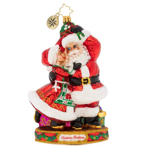 Christopher Radko Hand-Crafted European Glass Christmas Decorative Figural Ornament, Dance The Night Away!