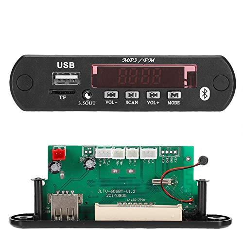 Exliy Decodificador de MP3, Reproductor de MP3 LCD Tablero de decodificador WMA, Tablero de decodificación remota, Soporte para Auriculares y Amplificador de Doble Uso