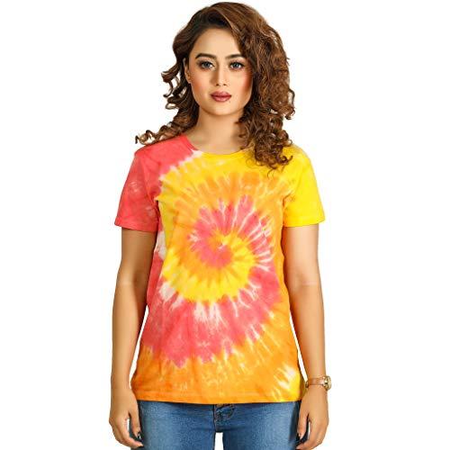 RNS STAR Tie Dye T-Shirts for Women || Casual Short Sleeve Tie Dye Shirt || Best Tie Dye T Shirt Dress for Women