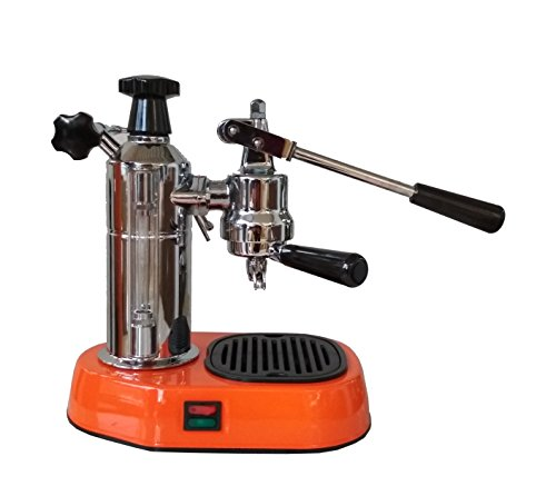 La Pavoni Europiccola Rosso EAR Handhebel Espressomaschine in Orange