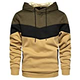 Gesean Unisex Casual Hooded Fashion Hoodie Pullover with Pocket Army Green X-Large