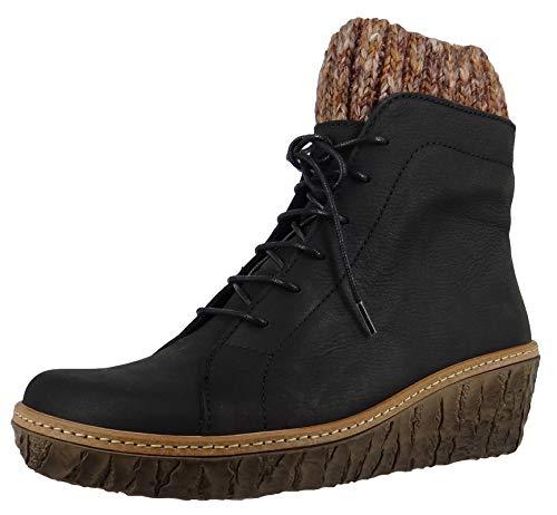El Naturalista Damen Ankle Boots Myth Yggdrasil, Frauen Schnürstiefelette, Ladies feminin elegant Women's Women Woman Freizeit,Black,40 EU / 7 UK