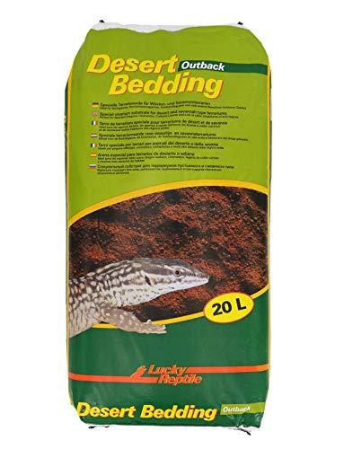 """Lucky Reptile DBO-20 Desert Bedding """"Outback rot"""" 20 Liter, Bodengrund für Wüstenterrarien, grabfähig"""