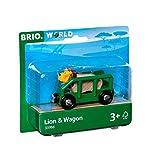 Brio Vagone con Leone, Multicolore, 33966