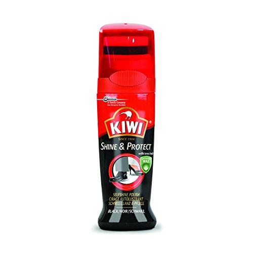 Protector y abrillantador Kiwi para zapatos, negro, 75 ml